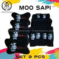 Bantal Mobil Moo Sapi Set 9pcs / Bantal Jok Mobil Moo sapi Set 9pcs