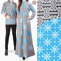 Batik Couple Dress Arumi Long Dress Wanita dan Kemeja Batik Pria
