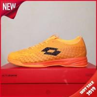 Sepatu Futsal Lotto Spark IN Beat Orange Black L01040004 Original BNIB