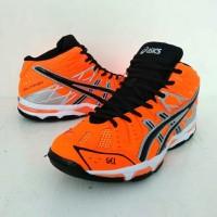 Sepatu Volly Ball Pria Asics Gel Porsa Premium BNIB. #orange black