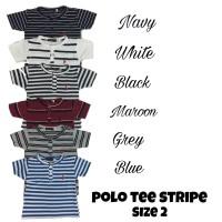 Baju Polo Stripe kaos polo garis anak laki laki baju kancing