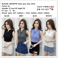 Baju Atasan Rajut Wanita Tank Top Blouse Korea Import AB435745 Black