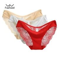 Celana Dalam wanita seamless Renda cd lace bunga transparan 981