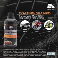 Shampo Perawatan Nano Ceramic Coating Mobil Motor Helm SABUSA 500ml