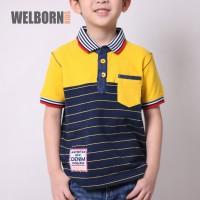 Welborn Kids Polo Shirt Kuning Biru Anak Laki