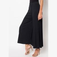 Eiza by duapola Plisket Kulot Pants 7156 - Black