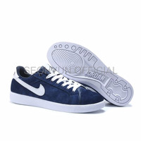 Sepatu Casual Safety Nike Air Jordan SkyHigh OG Suede Navy Blue High