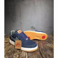 Sepatu Casual Safety Nike Air Force 1 LOW Levis Denim Blue Perfect Ki