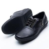 Sepatu Casual Pria Murah Kulit asli Kuliah/Kerja Merk Fordza 207 HT