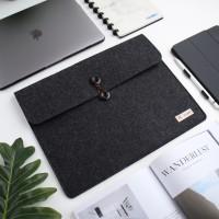 UCHII Portable Laptop Felt Bag Holder   File Map Kain Kancing 15.4 L