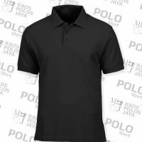Polo shirt TC hitam+manset / polo shirt murah / kaos polo dewasa