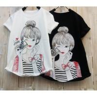 DIVA_BOUTIQUE BESTSELLER T-shirt / Kaos Wanita MORNING SELFIE GIRL