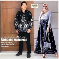 couple batik gamis brokat / setelan baju batik / pakaian keluarga