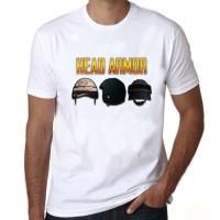 T5720 Kaos Baju Obral Combed 30S Distro HEAD ARMOR PUBG Murah Tshirt