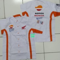 Baju Kemeja Seragam Repsol Honda Putih AHM