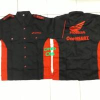 Baju kemeja Seragam Honda One Heart hitam AHM