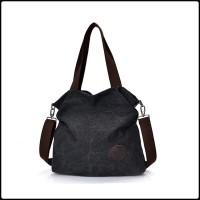 Tas Selempang & Bahu Wanita Sporty Bahan Kanvas- Tote Bag Cewek TW1846