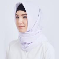 Eiza by duapola Hijab Katun Rawis 1130 - White