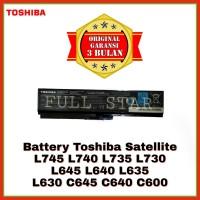 Baterai Original Laptop Toshiba Satellite L645 L640 L635 L630 PA3817