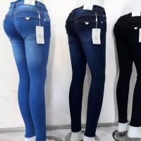 Celana jeans pensil skinny wanita big size ukuran 33-38.