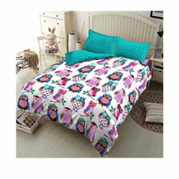 Kintakun D'luxe Singing Owl Set Bed Cover [180 x 200/ King]