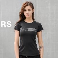 Kaos sport t-shirt olahraga senam running baju gym fitness wanita