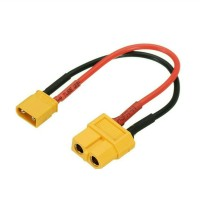 Converter XT60 female to XT 30 male with cable 14 AWG