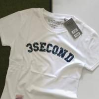 kaos tshirt kaos pria 3SECOND kaos mantap warna putih stok ada