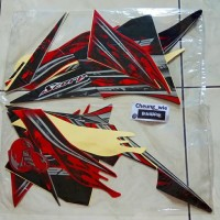 lis body/striping /stiker yamaha New Scorpio Z 225 2012-13 merah hitam