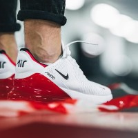Sepatu Nike Air Max 270 White Univeristy Red Premium Original