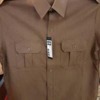 Baju Seragam PEMDA Coklat Khaki Pria Setelan Pemda PNS Pemda, Kemeja