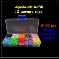 Aquabeads Refill 10 Warna @60pcs + Box / Mainan anak edukasi