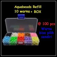 Aquabeads Refill 10 Warna @100pcs + Box / Mainan anak edukasi