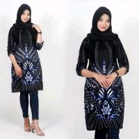 blous batik tunik batik baju motif rumput pakaian batik wanita