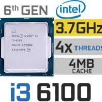 Prosesor Intel Core i3 6100 3.7GHz Tray+Fan Deepcool Alta9