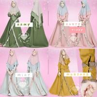 Baju Muslim Anak Perempuan Sheren Usia 8-9-10-11-12 Tahun Gamis Anak