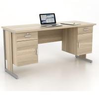 Prodesign Meja Kantor Harris DK 160 light oak /meja tulis / meja kerja