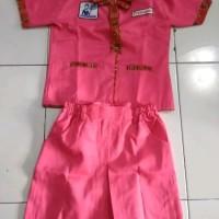 Baju Karnaval Profesi Anak Pramugari Pink Batik