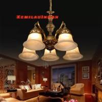 LAMPU GANTUNG ANTIK TERAS PLAFON HIAS CAB5 WHITE BOHLAM E27 BENTUK A