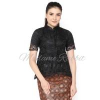 Baju Kebaya Terbaru Madame Rabbit Lengan Pendek Hitam Brokat