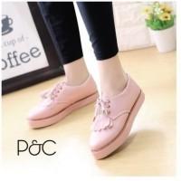 sepatu docmart wanita sepatu flatshoes bertali wanita p&c