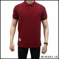 Kaos Polo Shirt Premium Red Maroon Alaric Original