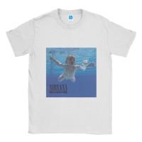 Baju Kaos Band Nirvana Nevermind - Putih, XL