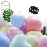 Balon Latex Love Macaron / Balon Karet Hati warna Pastel 12 inch