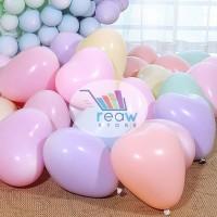 Balon Latex Love / Hati Pastel Macaron
