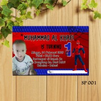 Undangan Ulang Tahun Tema Spiderman SP 001 Birthday Card