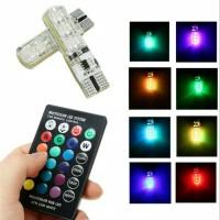 Bohlam lampu senja T10 RGB Jelly 16 warna mode remote