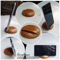 Wood phone holder tempat hp samsung xiaomi oppo vivo asus advan iphone