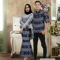 Baju Couple Kebaya Batik / Fashion Batik Copel Cp Corneli Abu Murah