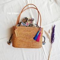 Tas Keranjang Anyaman Rotan Ate Rattan Bag Handmade The Straw